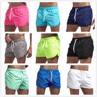 Pantalones cortos deportivos de playa para correr para hombre, pantalones cortos de surf de movimiento de secado rápido traje de baño para hombre