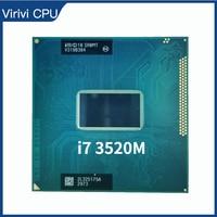 Mobile procesador Intel Core i7, 3520M, 2,9 GHz, SR0MT CPU, enchufe G2 / rPGA988B