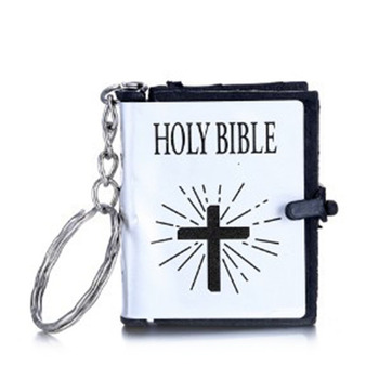 Biblical religious decorations gift cross small Biblical key chains that both men and women can use and give them as gifts image