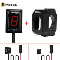 ZS MOTOS Motorcycle Plug Mount Speed Gear Display 1-6 Level Indicator For Ducati Cafe Racer Monster 696 796 1100 Scrambler 400