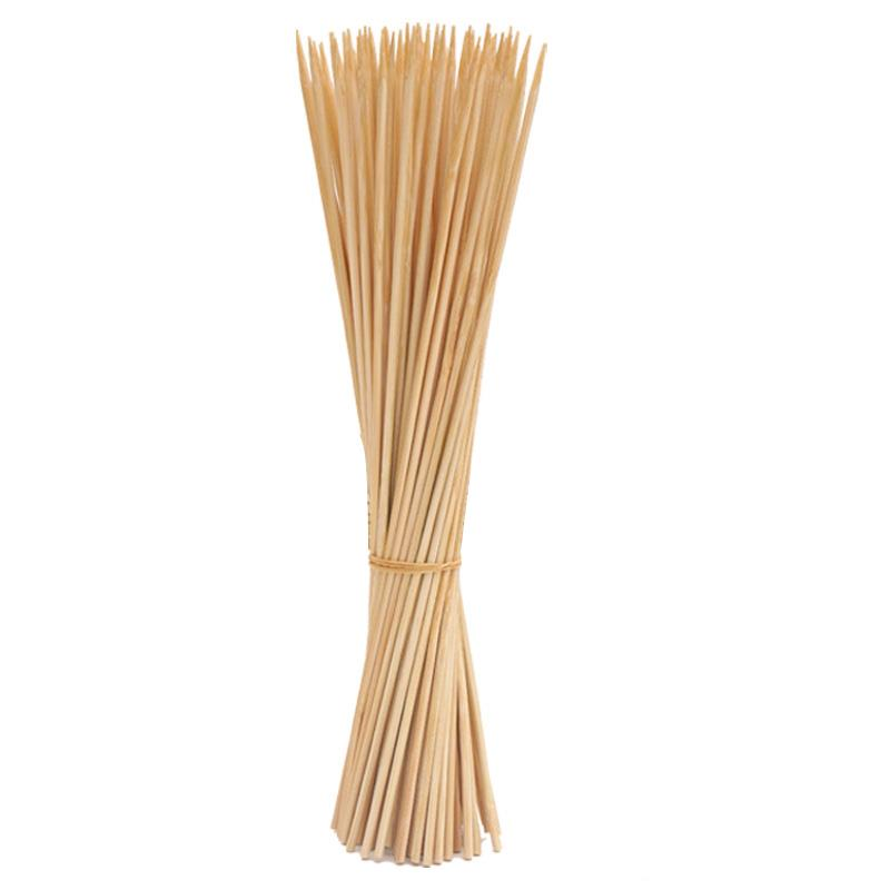 30cm 50pcs Bamboo Wooden BBQ Skewers Food Bamboo Meat Tool Barbecue Party Disposable Long Sticks Catering Grill Camping