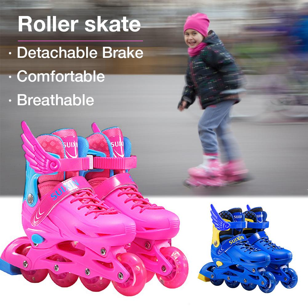 Kids Skates Roller Skates With Inline Speed Skates Shoes Hockey Roller Skates Sneakers Rollers Roller Skate