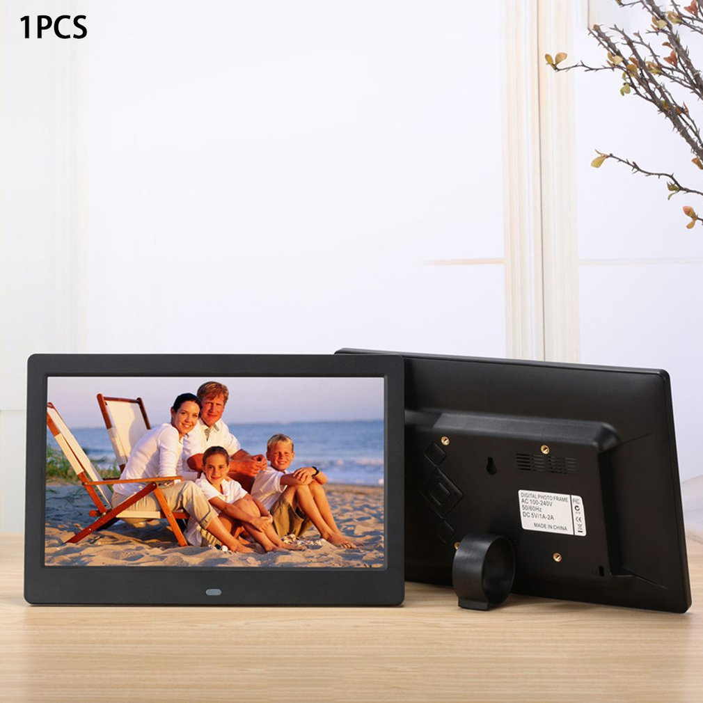 10inch HD Digital Wide Screen Advertising Exhibition Displayer for Birthday Wedding Digital Photo Frame Advertising White Support Picture Photos Music Video Playback