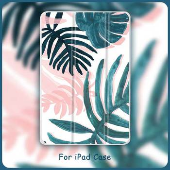 Case For iPad Abstract Leaves Magnet Cover For Apple iPad Mini 5 Air 2/3 10.2 iPad 7th 2020 Pro 11'  Leather Tablet Folding Case new three folding tablet case for ipad mini 1 mini 2 ultra thin dormancy tablet holster pu leather cover for apple ipad mini 3