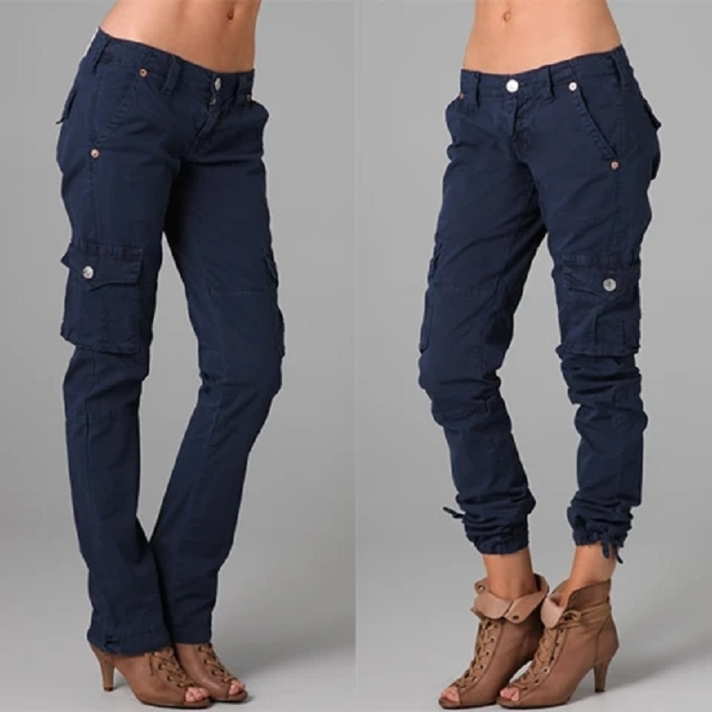New Arrival Fashion Hip Hop Casual Loose Pants Jeans Baggy Cargo Pants For Women Girls Capris Joggers Streetwear Punk Trousers
