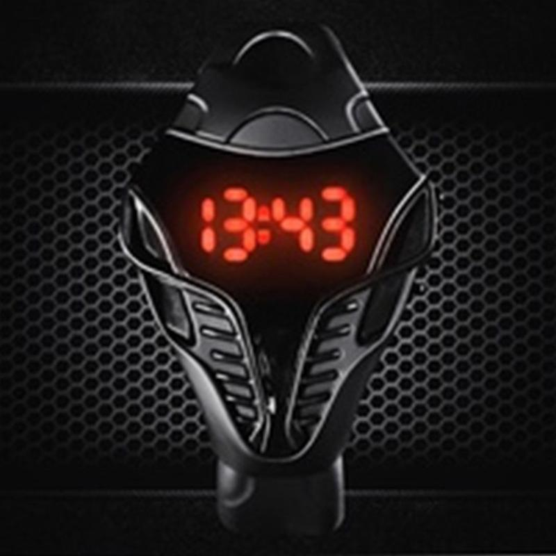 White Black Fashion LED Digital Snake Head Electronic Watch Reloj Deportivo Para Mujer