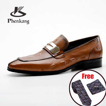 Mens formal shoes Genuine leather dress oxford shoes for men dressing wedding business office shoes slip on male men shoes 2020 - DISCOUNT ITEM  50 OFF Shoes