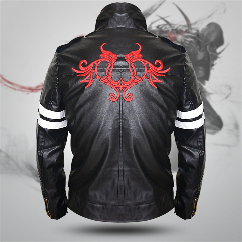 Cosplay Costume For Prototype Alex Mercer PU Leather Long Sleeve Game Personas Men Clothes Halloween Costumes For Women Jackets