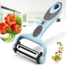 цена на 2020 New Stainless Steel Multi-function Vegetable Peeler Cutter Julienne Peeler Potato Carrot Grater Kitchen Tool Slicer