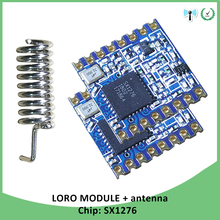 2p 868MHz moduł RF LoRa o bardzo niskiej mocy SX1276 chip odbiornik i nadajnik dalekiego zasięgu SPI IOT z anteną tanie tanio GRANDWISDOM