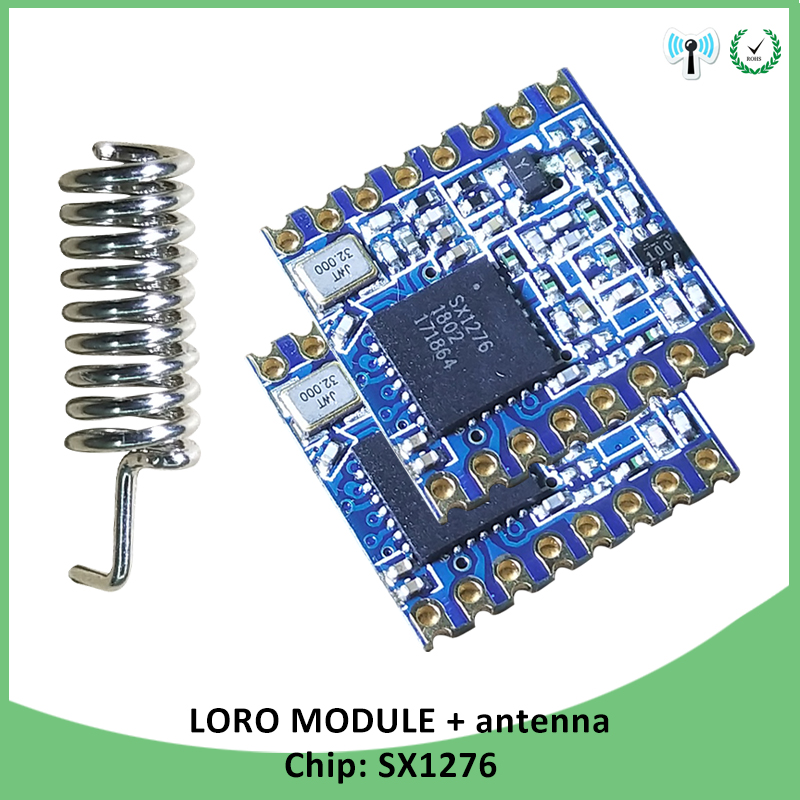 2p 868MHz super low power RF LoRa module SX1276 chip Long-Distance communication Receiver and Transmitter SPI IOT with antenna