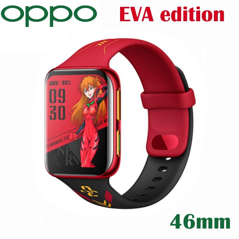Оригинальные оригинальные часы OPPO EVA версия 46 мм умный Браслет eSIM сотовый телефон 1 ГБ 8 ГБ GPS 1,91 дюйма AMOLED гибкие часы VOOC 430 мАч