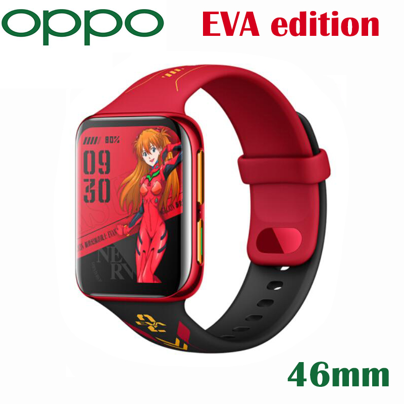 Offizielle Original Neue OPPO Uhr EVA Edition 46mm Smartband eSIM Handy 1G 8G GPS 1,91 zoll AMOLED Flexible Uhr VOOC 430Mah