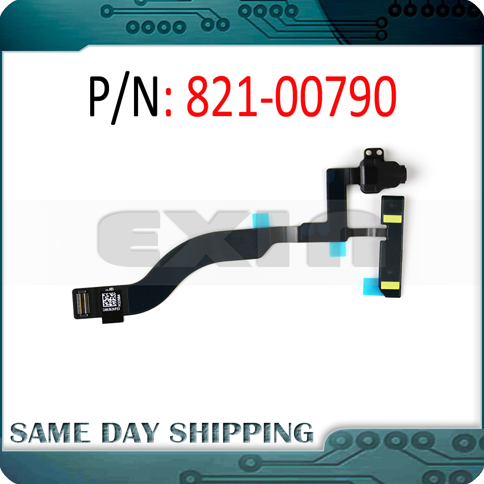 New 821-00790 Headphone Audio Jack Flex Cable With Microphone For Macbook Pro Retina 13'' A1708 Late 2016 Mid 2017 EMC 2978 3164