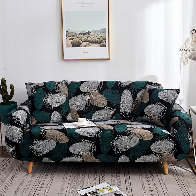 Эластичные чехлы для диванов хлопок стрейч все включено угловой