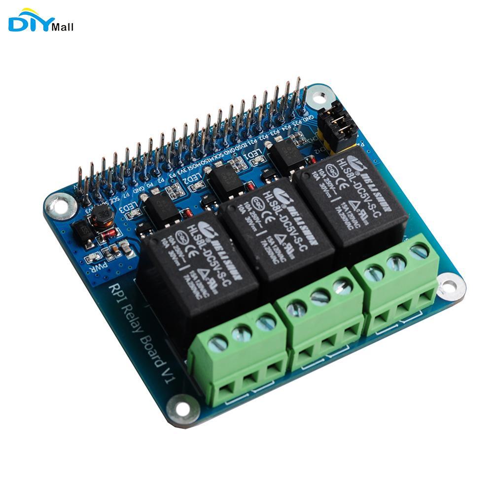 DIYmall 3 Channel RPi Relay Board Module For Raspberry Pi A+/B+/2B/3B/3B+