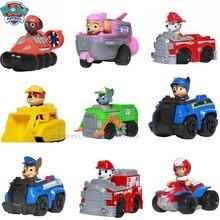 Paw patrol Cartoon 9 styles child toy factory authorized genuine dog team car set animal inertia