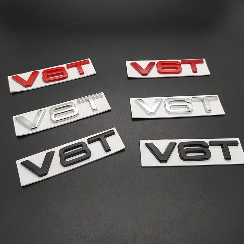 Автомобильный Стайлинг 3D металлический V6T V8T V6 V8 T крыло сбоку средства ухода за кожей эмблема хвостовая часть ствола значок на крыло Стикеры...