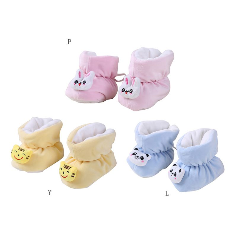 Autumnl Winter Infants Thick Warm Crystal Velvet Soft Bottom Non-Slip Shoes Newborn Toddler Baby Shoes Anti-Fall Shoes