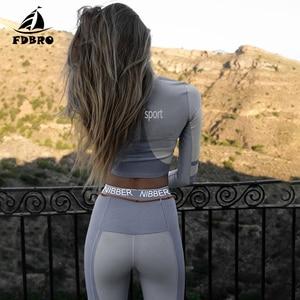 Image 2 - FDBRO Yoga Set Fall Winter Tracksuit High Waist Leggings Sets Sport Suit Women Active Wear Fitness Clothing 2 Piece Set Women