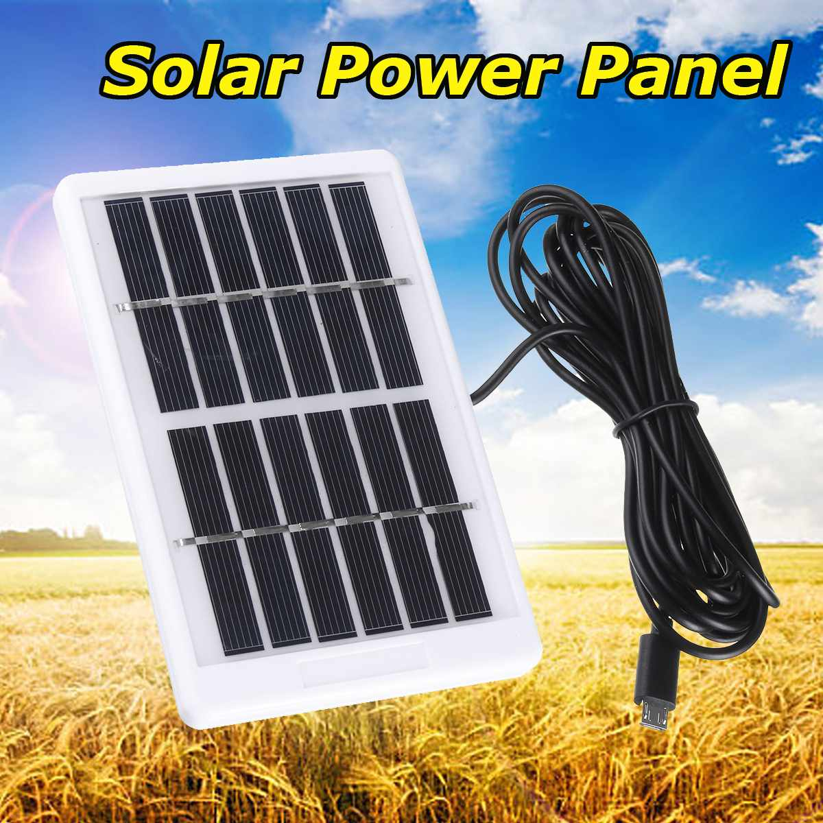 Solar Panel Mini Solar System DIY For Battery Cell Phone Chargers Portable Solar Cell For Multi-function Household Camping 6V12W