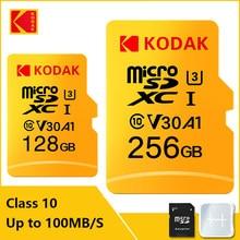 Kodak tarjeta de memoria de alta velocidad 100 MB/s 32GB A1 Clase 10 UHS-I 64GB tarjeta Micro SD de 128GB de V30 U3 TF tarjeta para cámara Smartphone juego