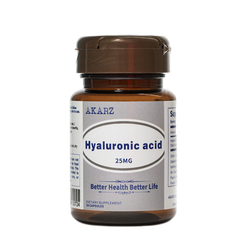 AKARZ Famous Brand Hyaluronic Acid Potent Antioxidant Supports Immune Health Anti-Aging 25MG