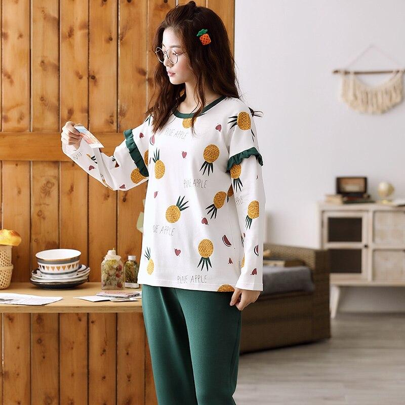 Image 3 - Woman Pajamas Sets Fashion Pajamas Autumn Winter Women Cotton Pajama Sets Cartoon Home Wear Suits Long Sleeves Pajamas for FemalPajama Sets   -