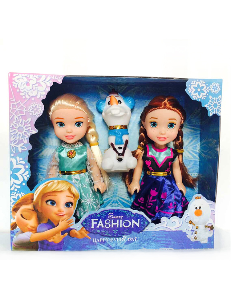 Anna Elsa Dolls Frozen Girls Toys 16cm Plastic Baby Small Princess 3pcs for 8-styles/Of/Clothes