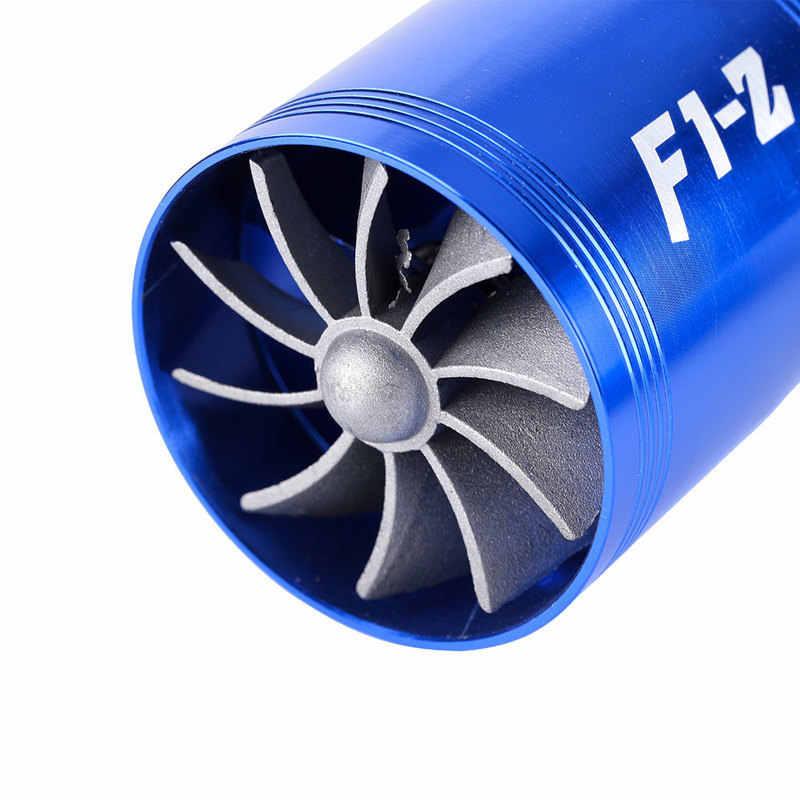 Auto Turbine Supercharger F1-Z Turbo Enkele Dubbele Luchtfilter Intake Fan Brandstof Gas Saver Kit Auto Vervanging Deel