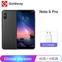 "Global Version Xiaomi Redmi Note 6 Pro 4GB 64GB Smartphone Snapdragon 636 Octa Core 6.26"" Notch Full Screen Dual Camera 4000mAh(Hong Kong,China)"