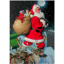 5D DIY Diamond Embroidered Santa Diamonds Cross Stitch Full Christmas Gift Valentines Day