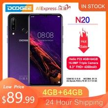 Doogee N20 新 2019 スマートフォン 6.3 インチ fhd + ディスプレイ 4350 mah 4 ギガバイト + 64 ギガバイトオクタコア 10 ワット充電指紋 16MP トリプルバックカメラ