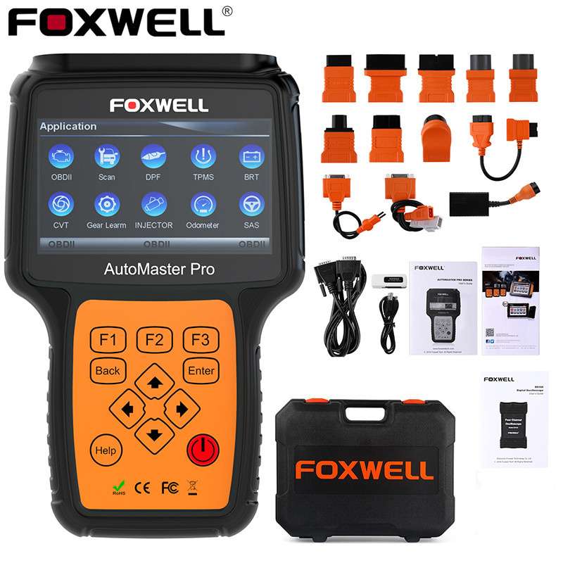FOXWELL NT644 PRO Full System OBD2 Scanner Code Reader ABS SRS DPF EPB Oil Reset Professional ODB2 OBD2 Auto Car Diagnostic Tool