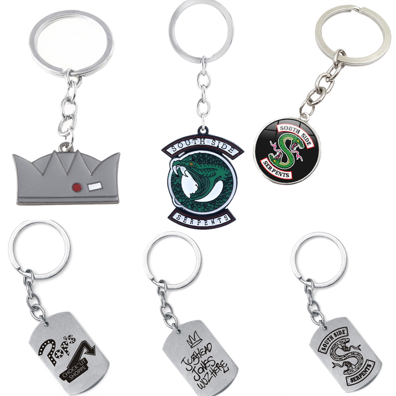 Riverdale Enamel Keychain Jughead Jones Crown Hat Pendant Key Chain Key Ring For Women Men Bag Car Keyring Accessories Jewelry