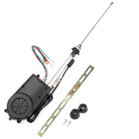 New Black DC12V Car Electric Aerial Radio Automatic Booster Power Antenna Kit
