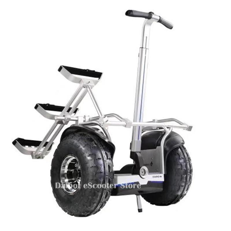 19 Inch Personal Golf Carts Off Road Hoverboard Two Wheels Balancing Scooters With GPS/APP Electric Scooter 60V 2400W image