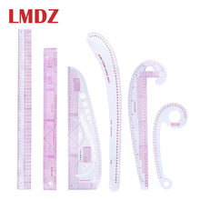 LMDZ Multi-function Sewing Rulers 6pcs/Set French Metric Ruler Curve Ruler Plastic Sewing Rulers Sewing Drawing Tailor Tools(China)