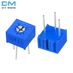 5 pçs lote 3362p ajustador potenciômetro resistor variável 100r 200r 500r 1k 2k 5k 10k 20k 50k 100k 200k 500k 1m ohm cermet trimpot