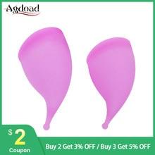 Uds de silicona Copa Menstrual de grado médico señora Copa Menstrual de higiene femenina período Menstrual taza