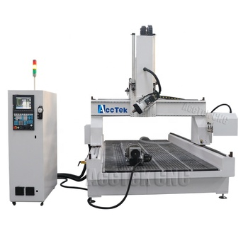 2019 good price 4 axis cnc router cheap multi use woodworking cnc machine AKM1325-4 axis