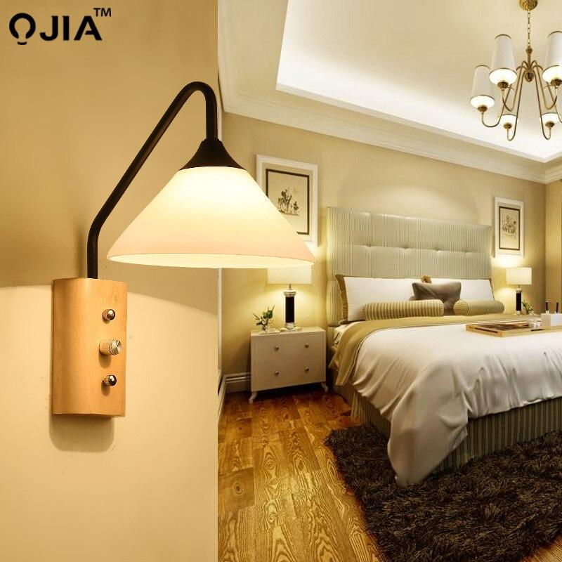 US $32.64 49% OFF|Moderne Wand Lampe Nacht Lampen Wand Licht Treppen  Beleuchtung für Schlafzimmer Wohnkultur 110 V/220 V E27 Halter  beleuchtung-in ...