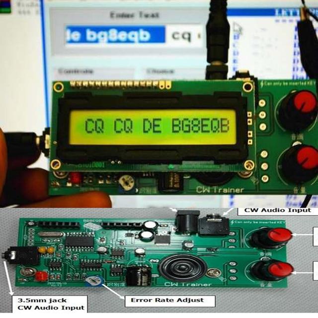 2in1: CW مدرب و فك * مورس رمز التدريب شريك * كيير مترجم تيار مستمر 9 فولت 12 فولت تردد اللحن: 600 هرتز 1200 هرتز