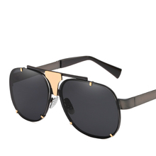 Man Sunglasses Personality Metal Will Frame Defence Uv400 Sunshade Sun Glasses Tide