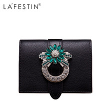 LAFESTIN Brand Women Wallet Luxury Designer Diamonds Short Purse Wallet Female Card Holder Purses Coin Wallets Carteira Feminina