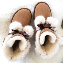 Winter Boots Real-Sheepskin Ankle-Shoes Australia Women's Fur Natural-Fur Warm High-Quality
