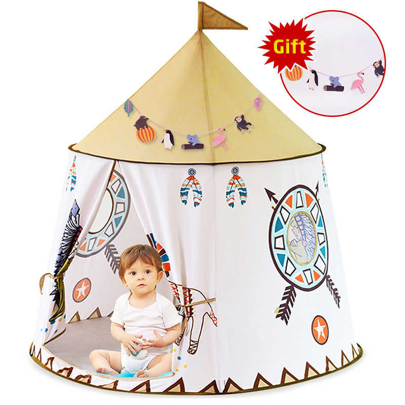 YARD Tent House Castle-Present Play Kid Teepee Portable Kids Children Princess for Birthday