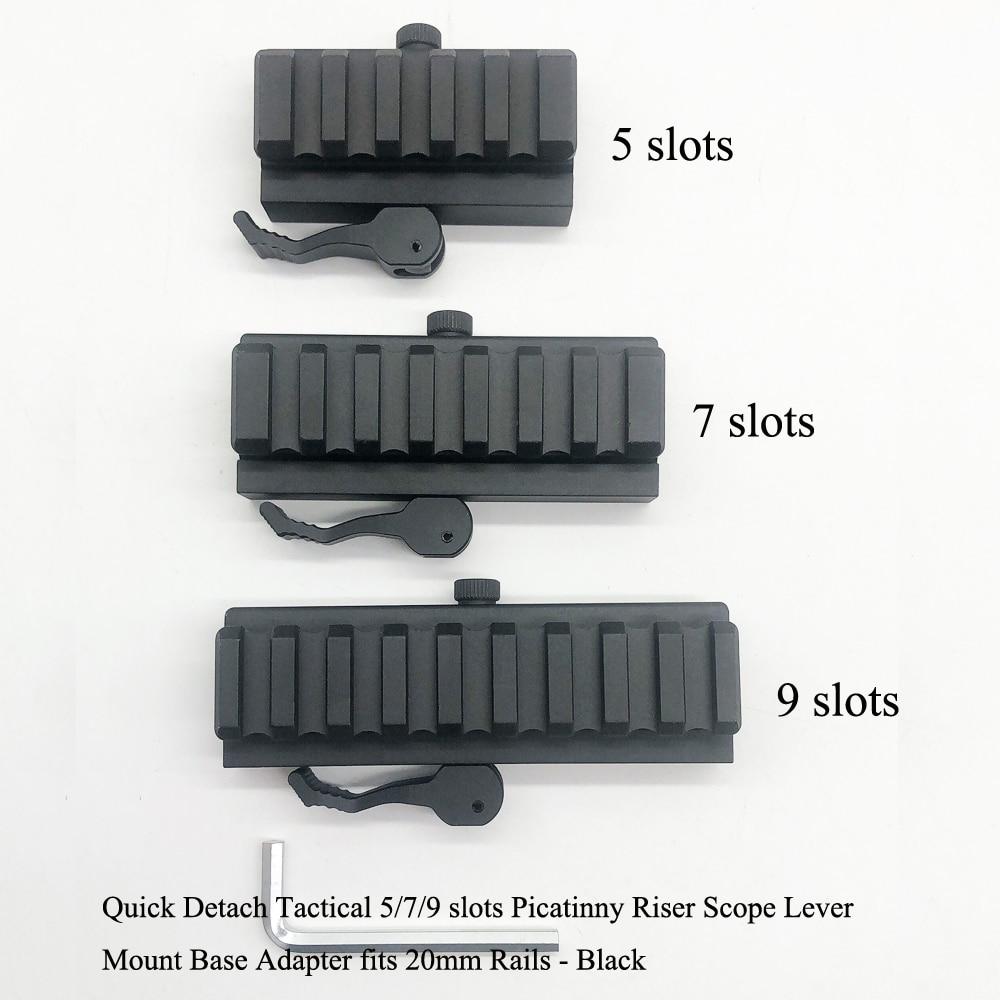 3//5 Slots Hunting Quick Detach Lever Lock Adapter Picatinny Scope Mount Riser