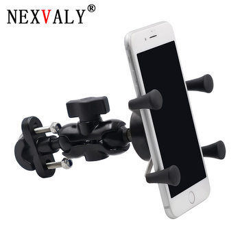 NEXVALY Mobile Phone Stand Holder Handlebar Mount Bracket for Bike Adjustable