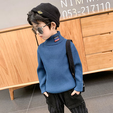 Baby Sweater Turtleneck Pullover Long-Sleeve Toddler Boys Winter Kid for Warm Top Stretch